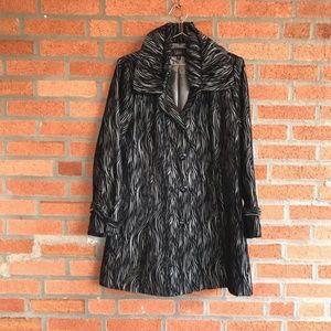 LUII | Black & Silver Ruffle Coat